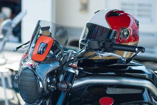 Motorcycle, Helmet, Moto, Speed, Man, Road, Bike, Sport