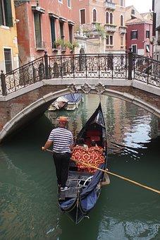 Venice, Gondola, Channel, Water, Journey, The Romantic