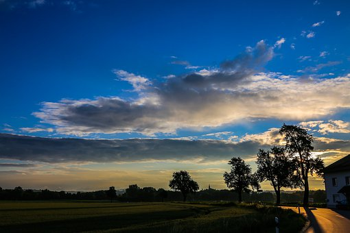 Sky, Clouds, Landscape, Nature, Sunrise, Atmosphere