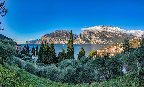 Torbole, Garda, Italy, Lake, Mountains, Vacations