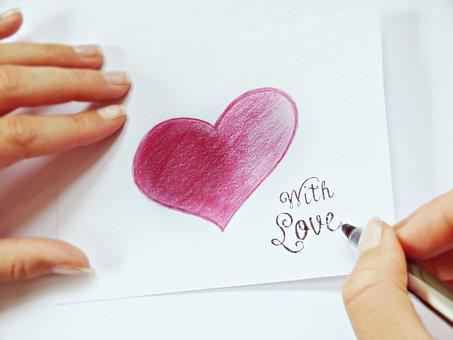 Write, Heart, Finger, Paper, List, Note, Letters, Love