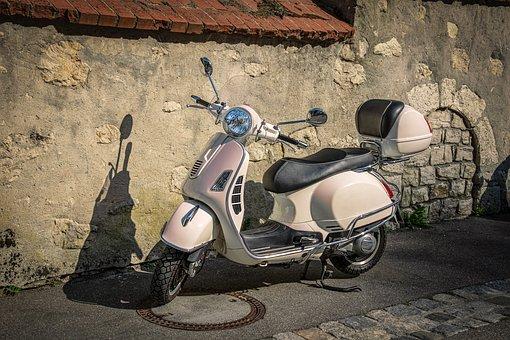 Vespa, Moped, Retro, Locomotion, Motorcycle, Piaggio