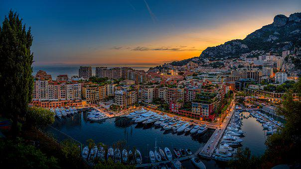 Monaco, City, Port, Yachts, Building, Architecture