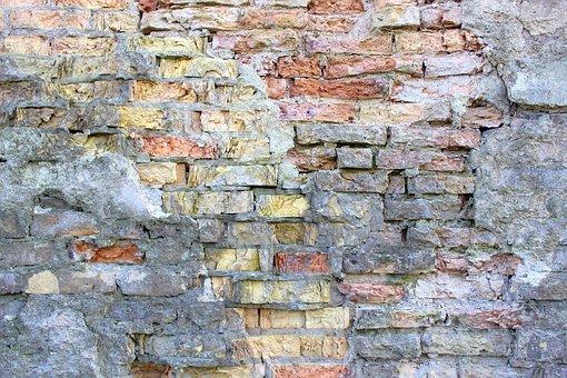 Wall, Background, Brick, Orange, White, Old, Castle