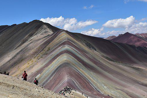 Peru, Rainbow Mountain, Landscape