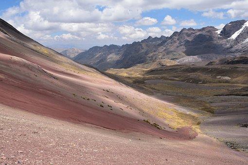 Peru, Rainbow Mountain, Landscape, Hiking, Travel