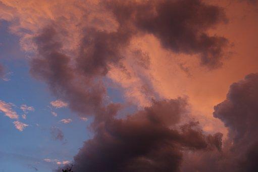 Clouds, Selva Marine, Red Clouds, Cloud Cover, Mood