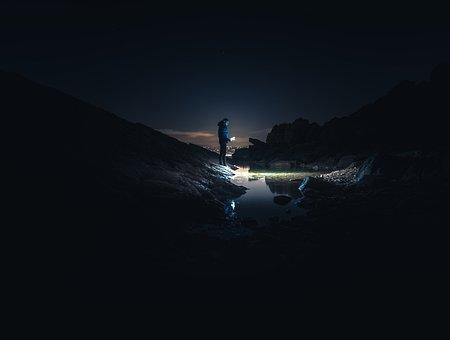 Night, Photo, France, Dream, Fantasy, Sky, Clouds, Moon