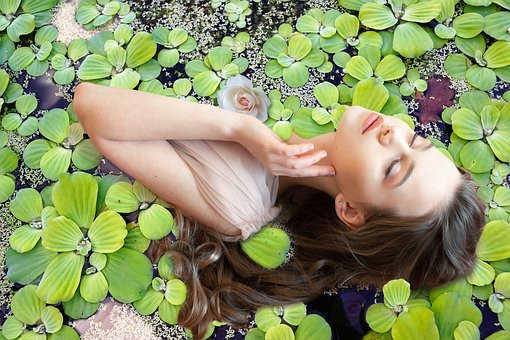 Ophelia, Woman, Water, Pond, Beauty, Sorrow, Flower
