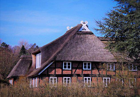 House, Thatched Cottage, Truss, The North-german Type