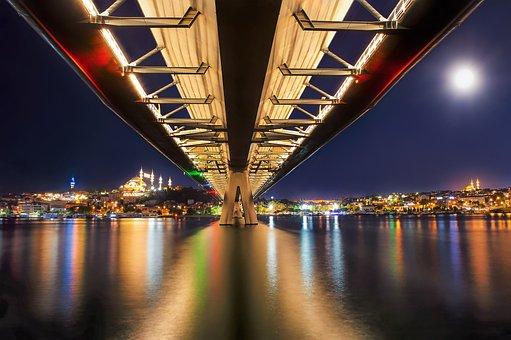 Night, Nightscape, City, Cityscape, Istanbul, Turkey