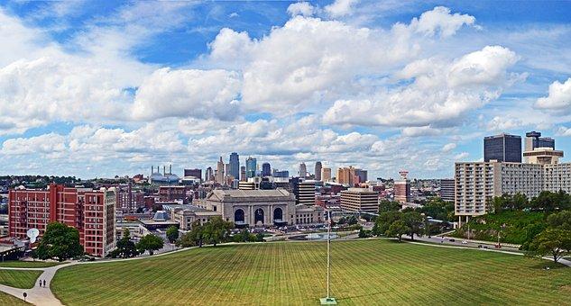 Kansas City, City, Skyline, Missouri, Urban