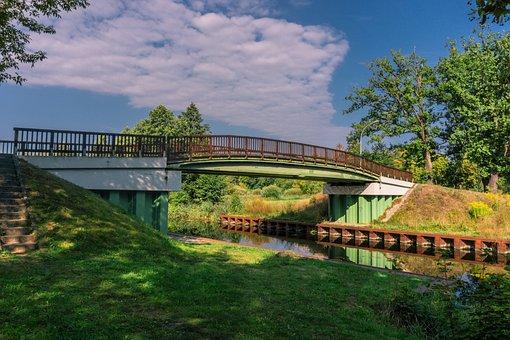 Bridge, Water, Channel, Architecture, Landscape, Sky