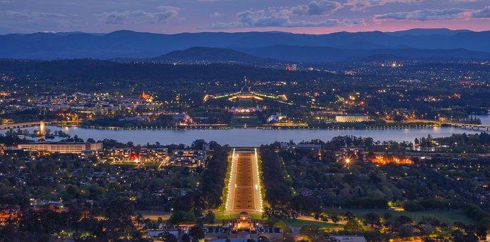 Australia Canberra, Lake Burley Griffin, Canberra, Park