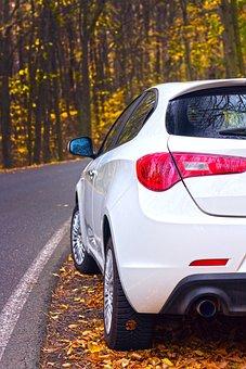 Auto, Vehicle, Autumn, Automobile, Transport, Road