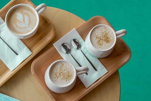 Latté, Cappuccino, Drink, Mug, Table, Taste