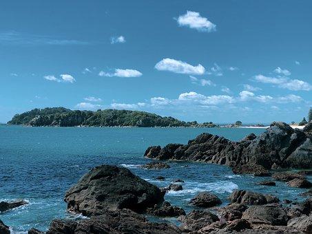 Blue, Sky, Ocean, Sea, Clouds, Water, Landscape, Nature