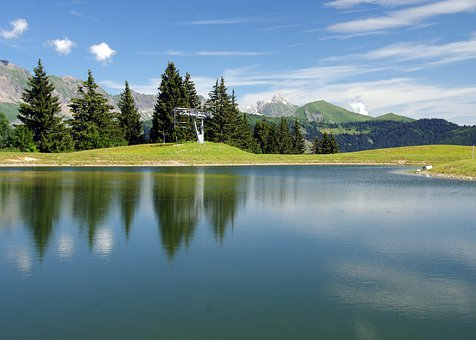 France, Haute-savoie, Aravis, Lake, Alps, Mountain