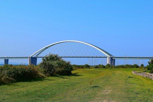 Bridge, Fehmarnsund, Landscape, Bridge Piers