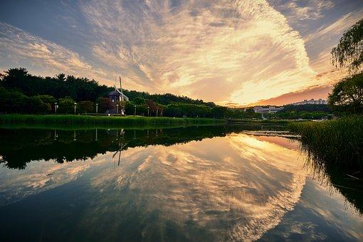 Landscape, Lake, Nature, Water, Reflections, Sky