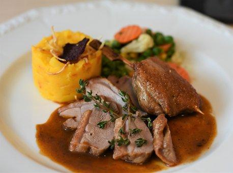 Eat, Duck, Meat, Roast Duck, Substantial, Duck Breast