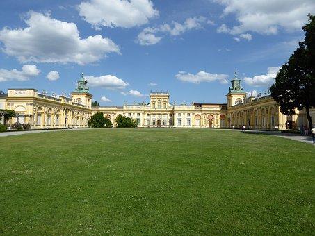 Poland, Palace, Architecture, Tourism, Warsaw, Panorama