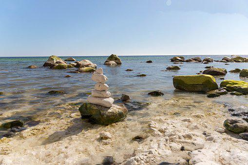 Natural, Beach, Water, The White Cliffs Of Møn, Coastal