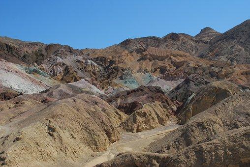 Usa, Death Valley, Palette, Colors