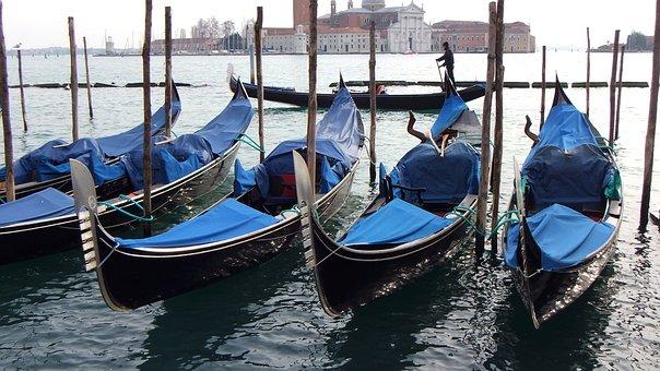 Venice, Gondola, Italy, Gondolas, Tourism, Channel