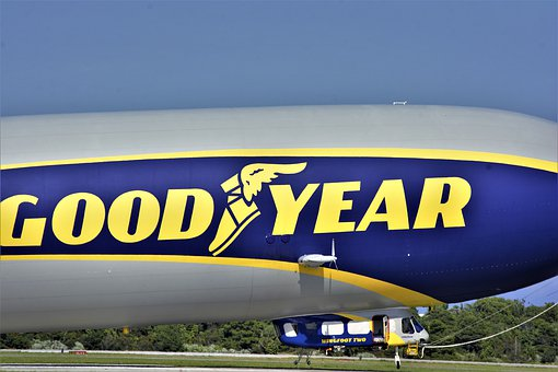 Goodyear Blimp, Landed, Gondola, Closeup, Airship