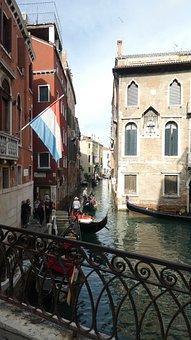 Venice, Channel, Architecture, Gondola, Water, Bridge