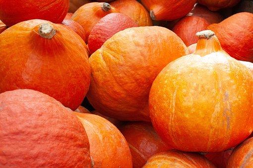 Pumpkin, Autumn, Halloween, Vegetables, Orange