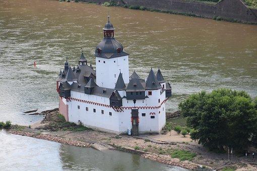 Castle Pfalzgrafenstein, Castle, River, Kaub, Rhine