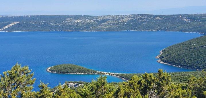 Sea, Drop, Droplet, Island, Croatia, High Up, Shape