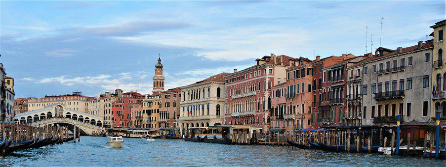 Italy, Venice, Gondola, Channel, Travel, Boats, Facade