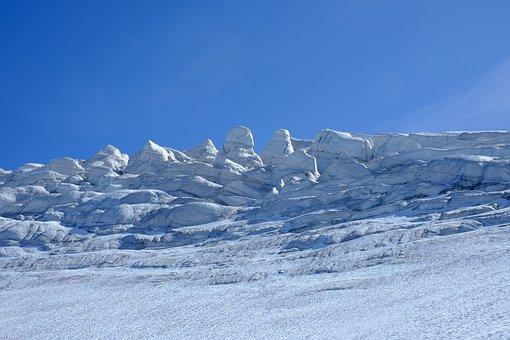 Seracs, Glacier, Glacial Ice, Ice Towers