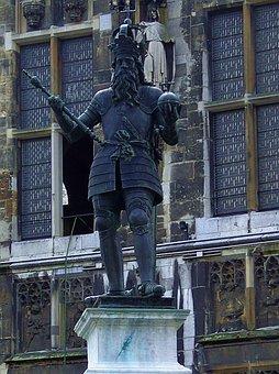 Kaiser Karl, Aachen, M, Town Hall, Monument, Dom