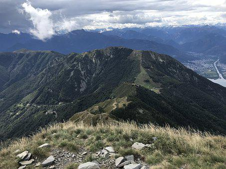 Monte Gambarogno From Monte Tamaro
