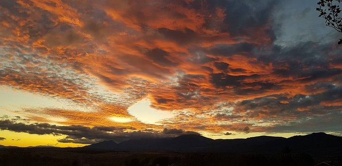 Sunset, Sierra De Madrid, Madrid, Mountains, Sierra