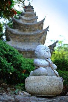 Copper Squares, Top, Buddhism, Temple, Religion