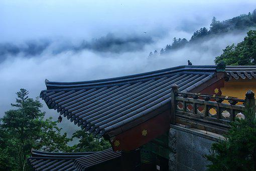 Temple, Section, Mountain, Landscape, Scenery, Buddhism