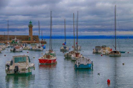 Boats, Sea, Sailboats, Fishing, Brittany, Tide