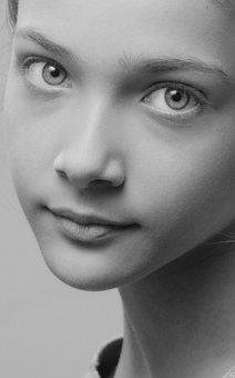 Girl, Studio, Female, Woman, Profile