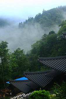 Mountain, Section, Temple, Landscape, Travel, Korea