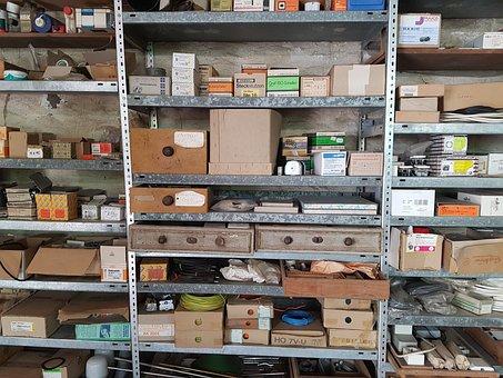 Workshop, Shelf, Craft, Goods, Spare Parts, Accessories
