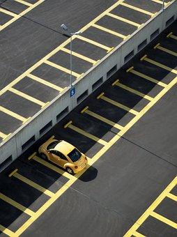 Car, Automobile, Parking, Carpark, Lines, Yellow