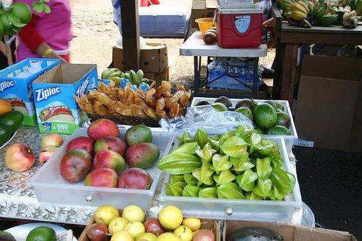 Fruit Market, Hawaii, Mangoes, Star Fruit, Avocados