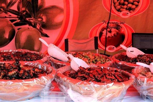 Spices, Market, Sales Stand, Sharp, Bazar, Chili