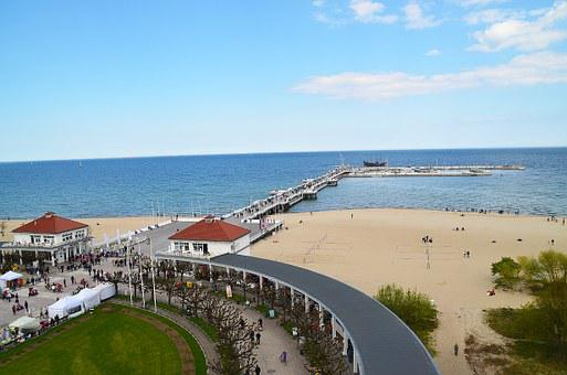 The Pier, Polish Sea, The Baltic Sea, Beach