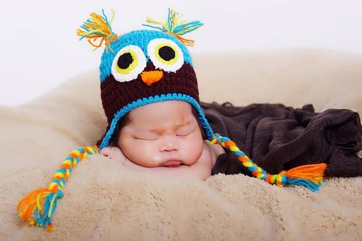 Thai, Baby, Boy, Hat, Funny, Infant, Owl, Knitted